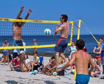 Beach-Volleyball auf Usedom